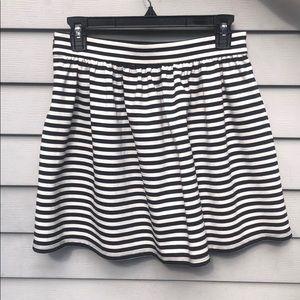 Forever 21 black & white striped skater skirt